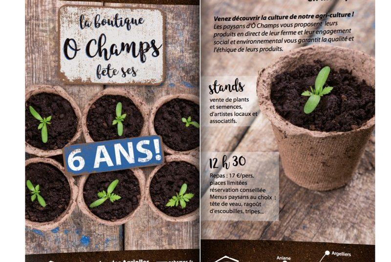 La boutique Ô Champs fête ses 6 ans le dimanche 15 avril 2018